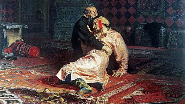 Иван Грозный и сын его Иван 16 ноября 16581 год. 1885 г.